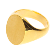 Oval signet ring 750/-