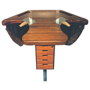 Exclusive mahogany goldsmith table.