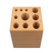 Stor værktøjsblok i træ