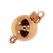 Polished ball clasp 585/- rose