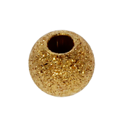 Ball-shaped sparkling bead 925/- gold-plated