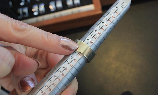 Måling af bred ring på ringstok