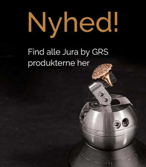 Find de luksuriøse guldsmedværktøjer fra Jura by GRS her.