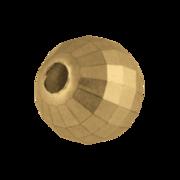 Bead, disco ball 585/- yellow gold