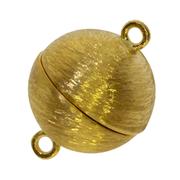 Magnet-kuglelås med malerstrejf 925/- forgyldt