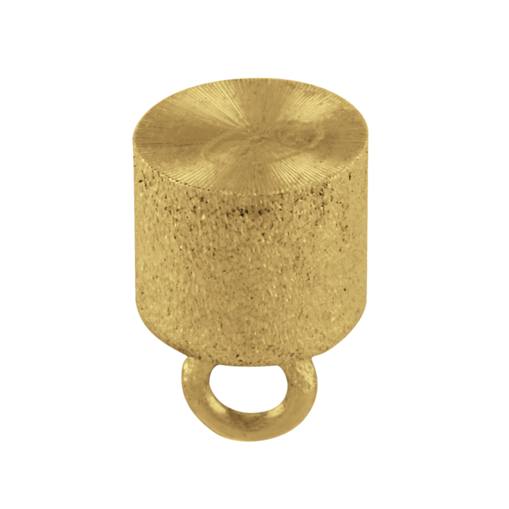 Matt cylinder-shaped magnet clasp 925/- gold-plated, 12.00 x 7.00 mm