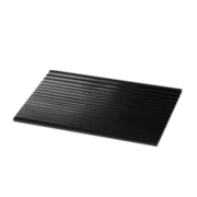 Grooved tray, black