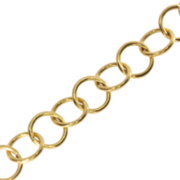 Ring chain 750/- yellow gold