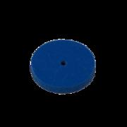 Gummipolerskiva blå