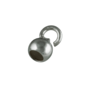 Capsule with a small open jump ring 750/- white gold