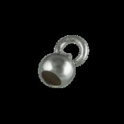 Dup med lille åbent øsken 750/- hvidguld
