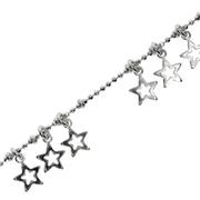 Bracelet ball plain cut with stars 925/-